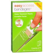 """Easy Access Bandages Water Resistant Plastic Portable Packs, 3/4"""" x 3"""", 30 ea"""