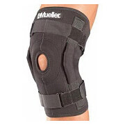Mueller Hinged Wraparound Knee Brace, Black, Large