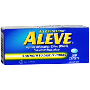 Aleve All Day Strong Pain Reliever, Fever Reducer, Caplet, 200 ea