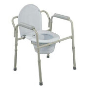 Commode Folding Steel Retail Packaged