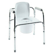 All-In-One Aluminum Commode, 1 ea