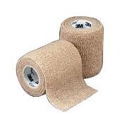 "Coban Non-Sterile Self-Adherent Wrap 3"" x 5 yds., Tan (1 roll)"