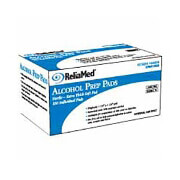 "ReliaMed Alcohol Wipe, 1-Ply, 1-1/8"" x 1-1/8"" (100 count)"