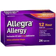 Allegra Allergy 12 Hour Non-Drowsy, 24 ea