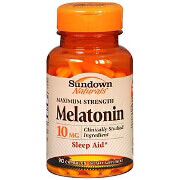 Sundown Naturals Melatonin 10mg Capsules, 90 ea