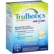 TruBiotics Daily Probiotic Supplement One-A-Day Capsules, 30 ea