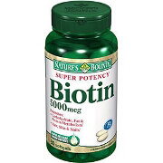 Nature's Bounty Biotin 5000mcg Super Potency Capsules, 60 ea