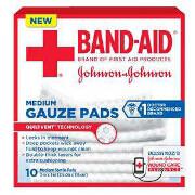 Band-aid First Aid Gauze Pads 3x3, 10 ea
