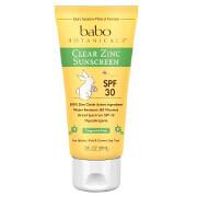 Babo Botanicals Clear Zinc Fragrance Free Sunscreen, SPF 30, 3 oz