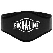 Back-A-Line Back Support with Lumbar Pad, Large, Black
