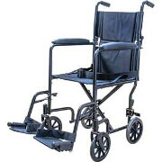 "Transport Chair with Swing Away Foot Rest 19"" Width, Steel"