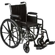 "Roscoe Medical 18"" K2-Lite Wheelchair with Removable Desk-Length Arms, 250 lb"