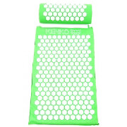 Kenko Acupressure Mat for Back/Neck Pain, Emerald (with pillow)