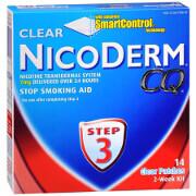 NicoDerm CQ Smoking Cessation Aid, Clear Patch, Step 3, 14 ea