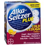 Alka-Seltzer Plus Cold & Cough Medicine, Citrus Blend, Effervescent Tablets, 20 ea