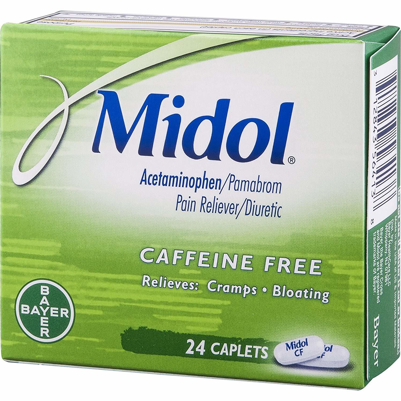 Midol Caffeine Free Caplets 24 Ct