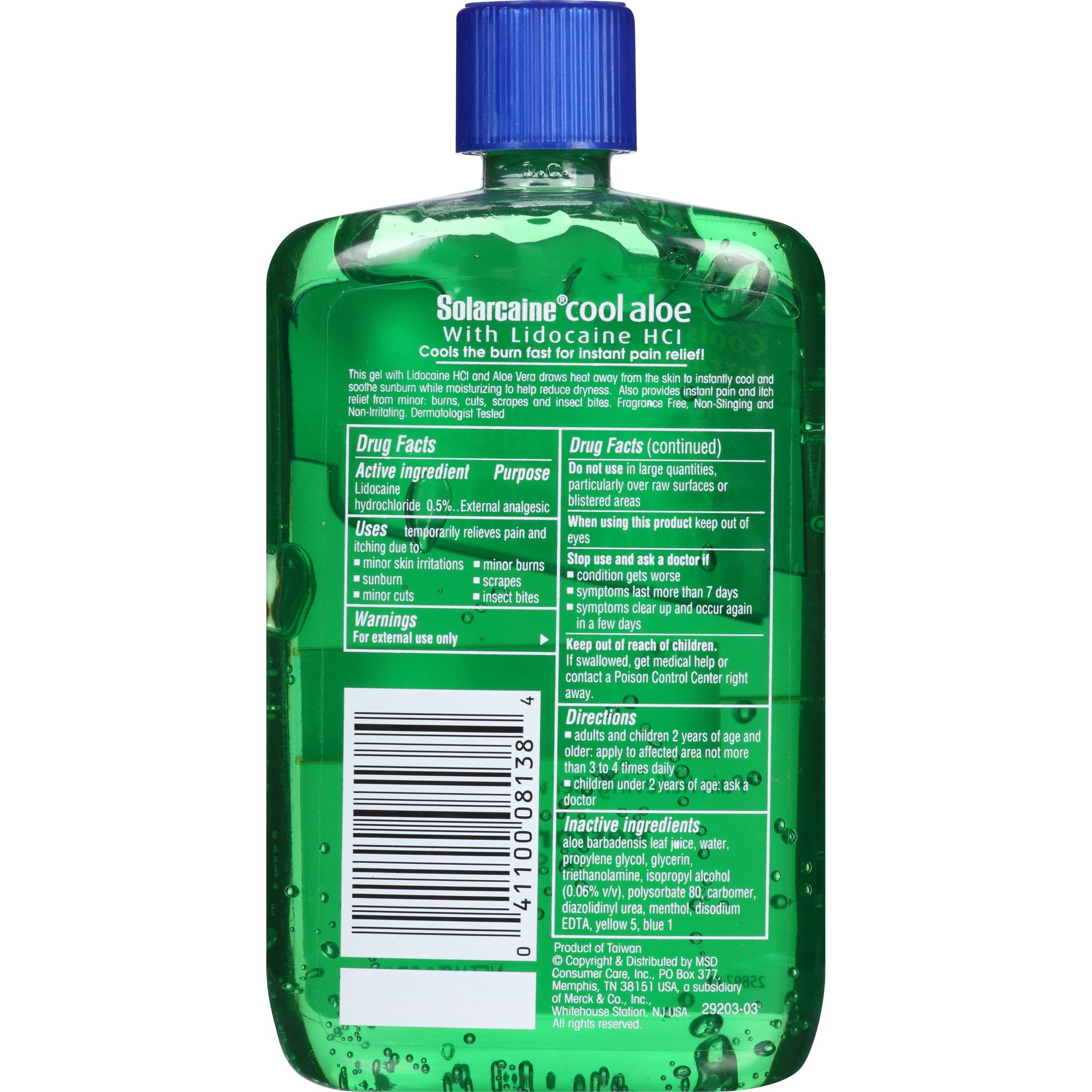 Solarcaine Aloe Extra Burn Relief Gel, 8 oz