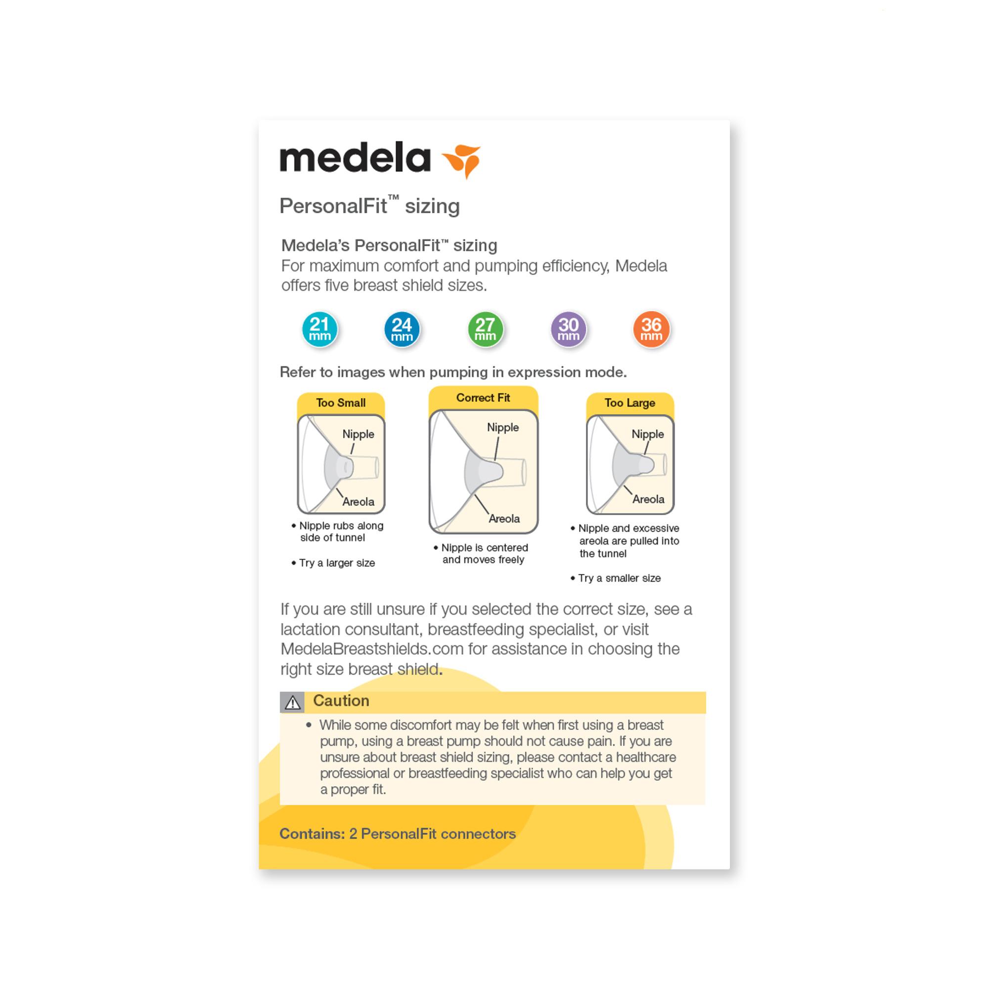 Medela PersonalFit Breast Shields 21mm (Small), 2 ea