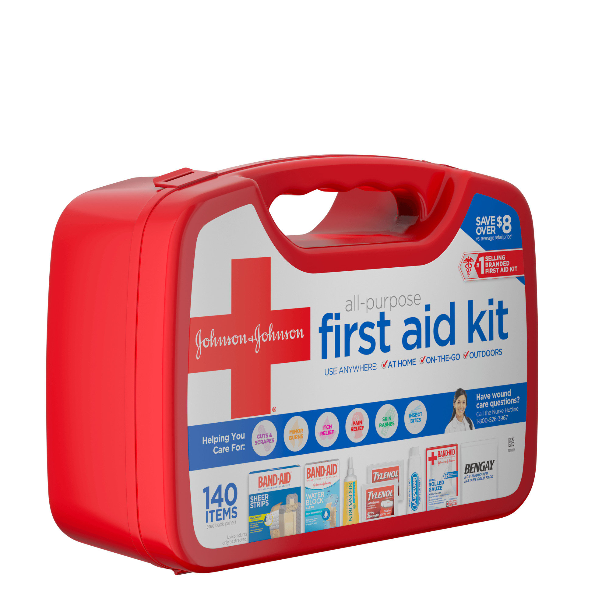 1cc6fcba56c7 Johnson & Johnson Red Cross® All Purpose First Aid Kit, 140 Items