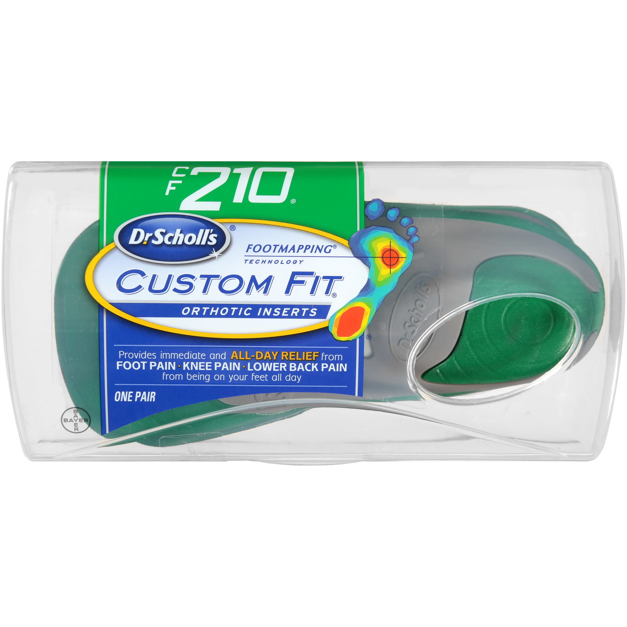 Insoles & Shoe Inserts Qualified Dr Scholls Cf 210 Custom Fit Orthotic Inserts