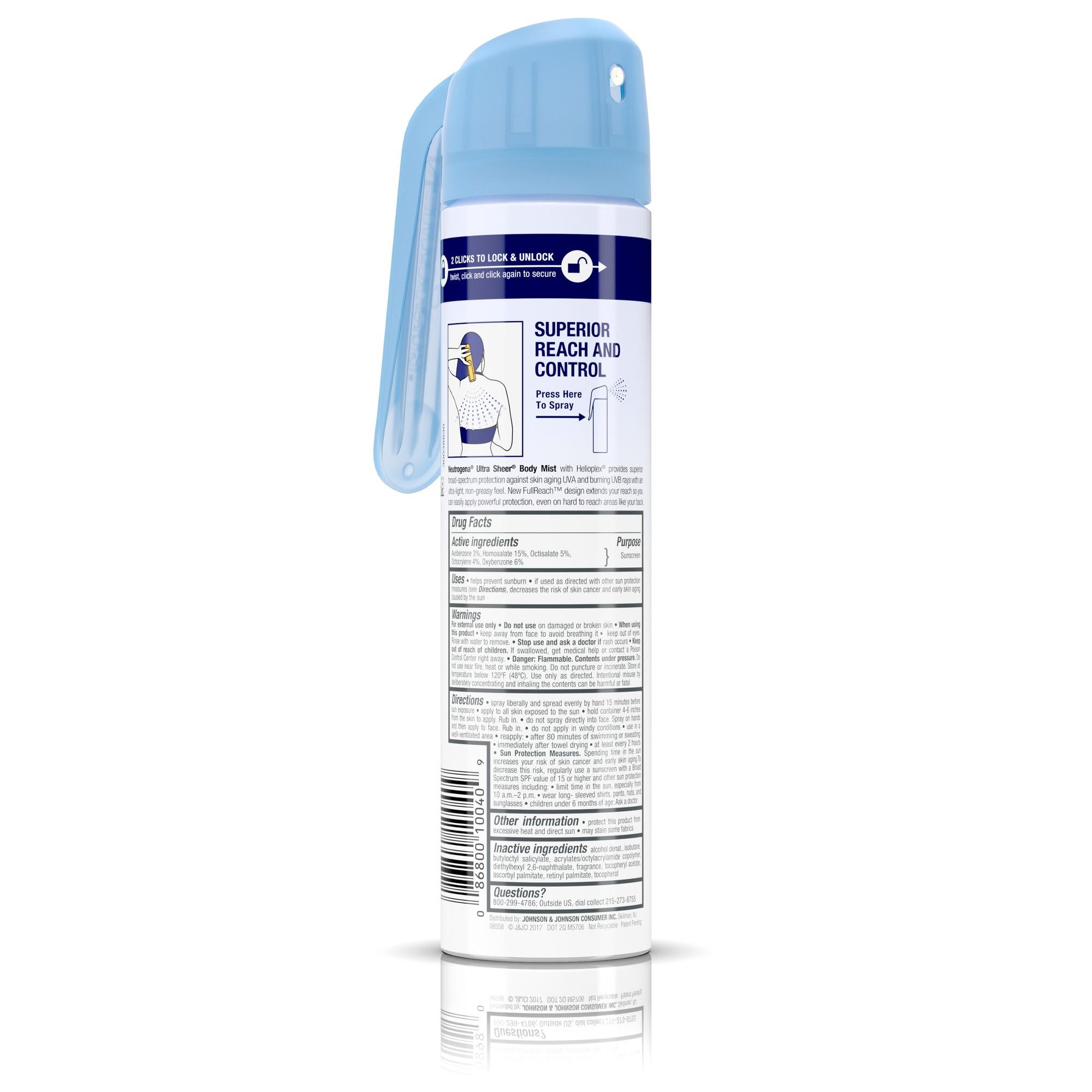 Neutrogena Ultra Sheer Lightweight Sunscreen Spray