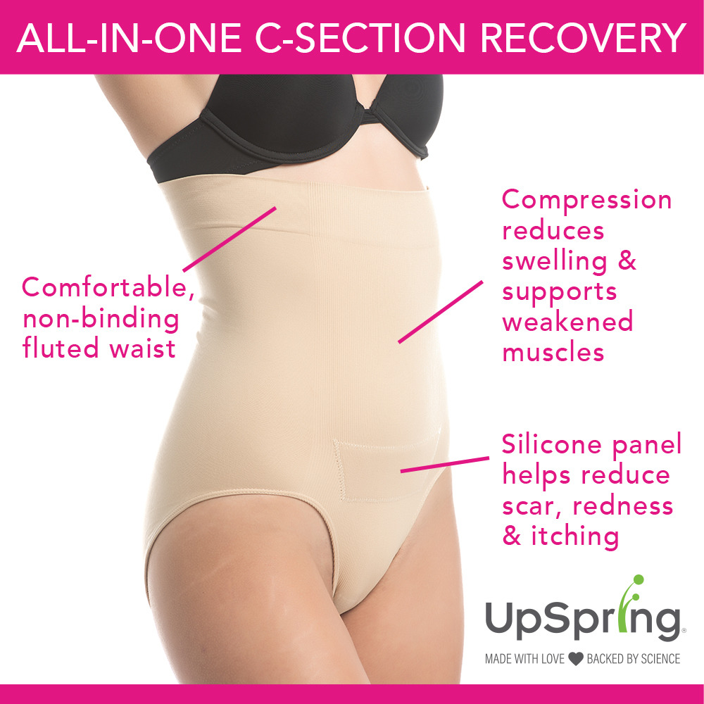 b757ae28fc1 UpSpring C-Section Recovery Panty Plus Incision Care Nude Small ...