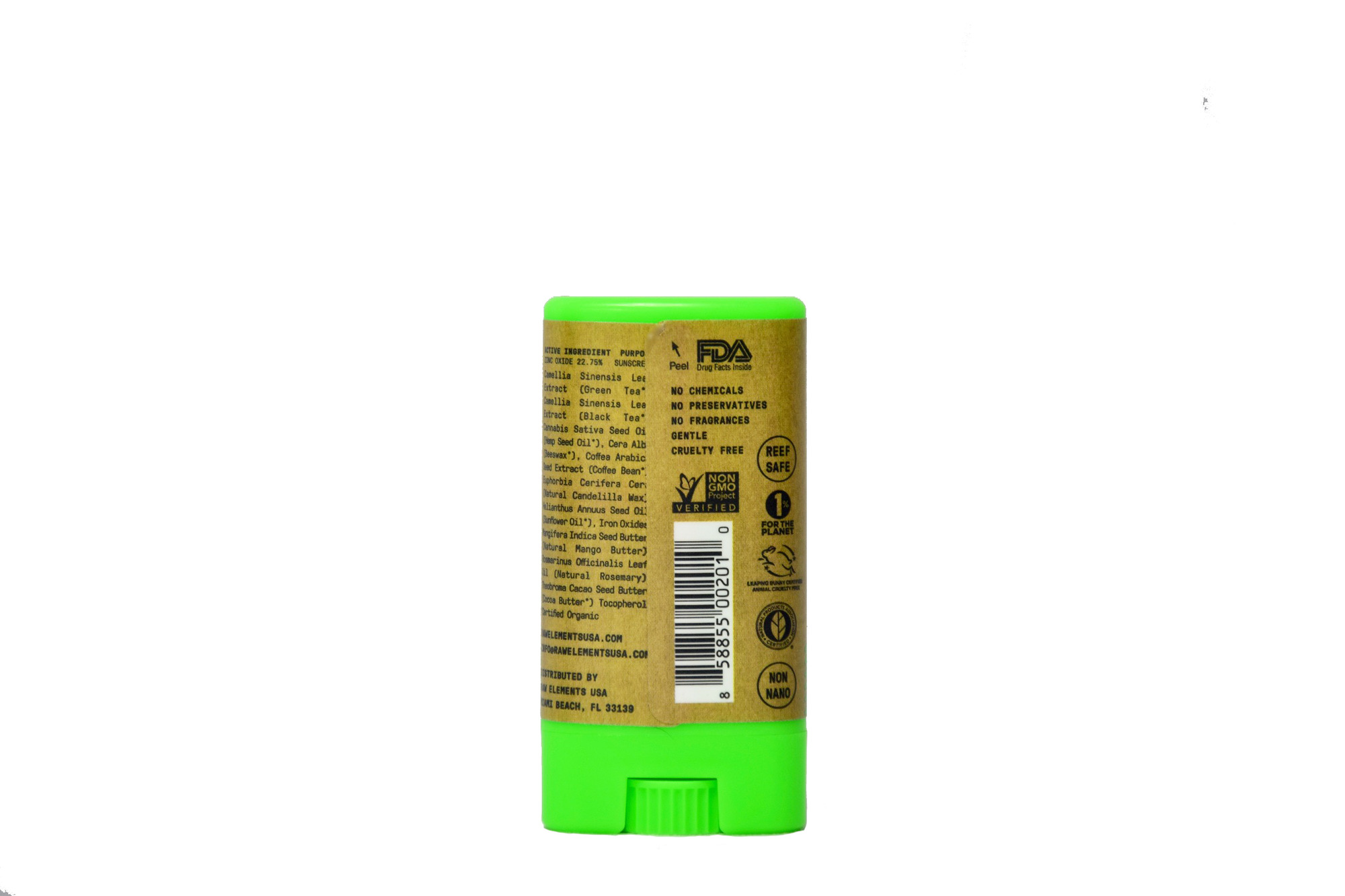 Raw Elements Eco Spf 30 Mineral Face Sunscreen Stick 60