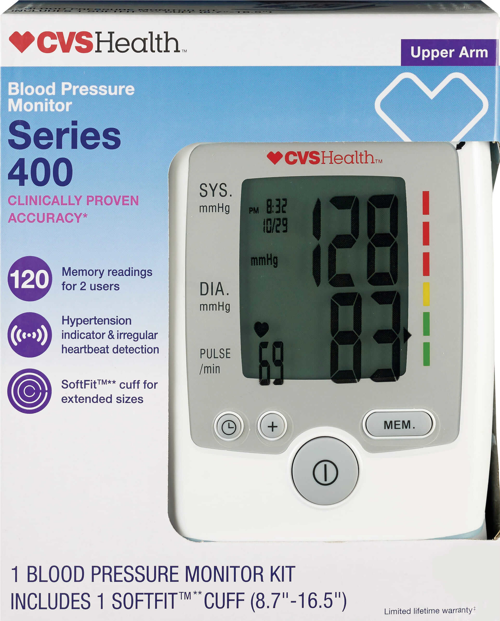 cvs health advanced auto blood pressure monitor