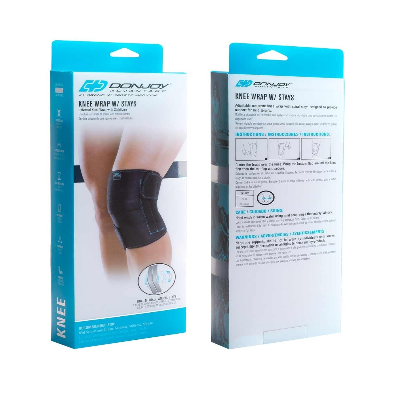 e93bc6cde1 DonJoy Advantage Knee Wrap with Stays, Universal Size | FSAstore.com