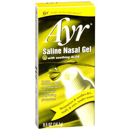 Ayr Saline Nasal Gel with Soothing Aloe, 0.5 oz | FSAstore.com