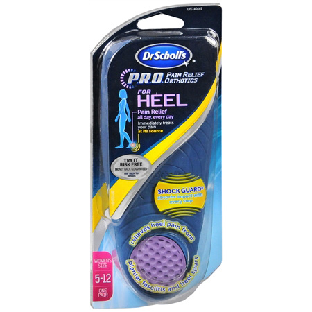 Dr. Scholl's P.R.O. Pain Relief Orthotics for Heel, Women's Size 6-10