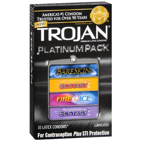 Trojan Lubricated Latex Condoms, Pleasure Pack, 12 ea 154229
