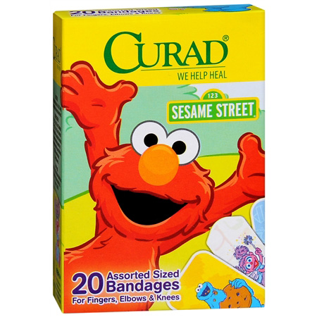 Curad Kids Sesame Street Assorted Bandages, 20 ea