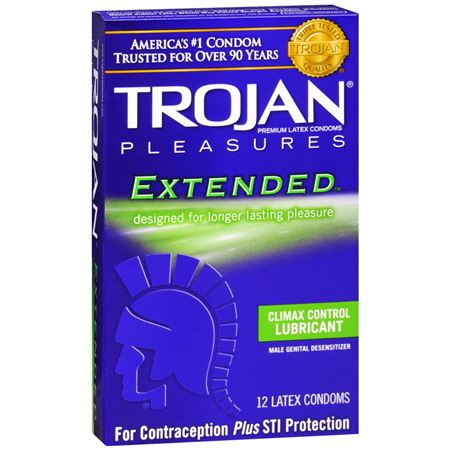 Trojan Extended Pleasure Condoms, 12 ea 284737