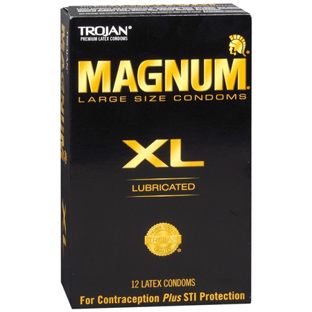Trojan Lubricated Latex Condoms, Magnum XL, Extra Large 12 ea 284739