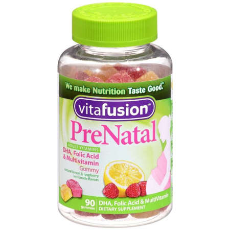 Vitafusion PreNatal Gummy Vitamins, Berry, Lemon and Cherry, 90 ea