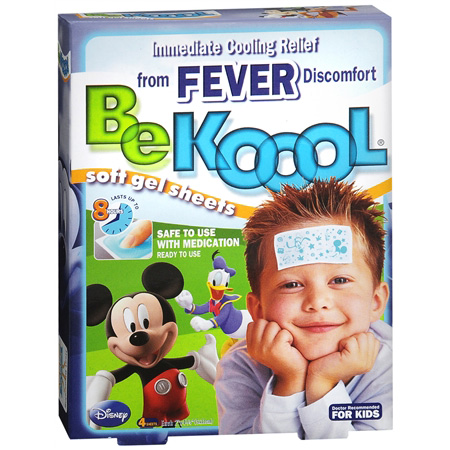 Be Koool Soft Gel Sheets, Kids, 4 ea 286544