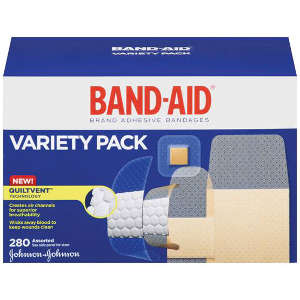 Band-Aid Sheer Variety Pack Assorted, 280 ea 286883