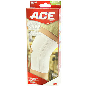 Ace Knitted Knee Brace With Side Stabilizers 207355