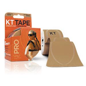 KT TAPE PRO, Pre-cut, 20 Strip, Synthetic, Stealth Beige